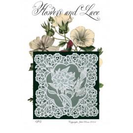 Modèles Julie Roces patron Pergamano Flower and Lace pattern 1405