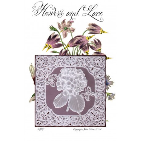 Modèles Julie Roces patron Pergamano Flower and Lace pattern 1407