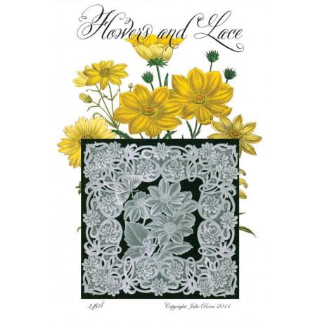 Modèles Julie Roces patron Pergamano Flower and Lace pattern 1408