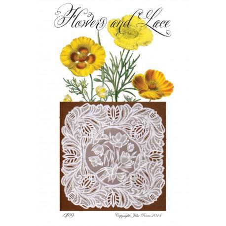 Modèles Julie Roces patron Pergamano Flower and Lace pattern 1409