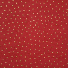 Papier à motifs raidana rouge pois or