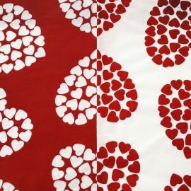 Papier fantaisie sweetheart blanc et rouge
