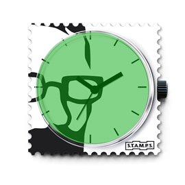 Montre Stamps cadran de montre green python
