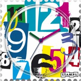 Montre Stamps cadran de montre backmail watch