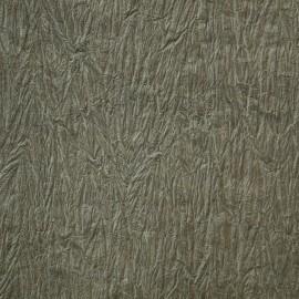 Papier fantaisie froissé gris vert