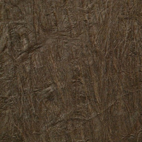 Papier fantaisie froissé marron