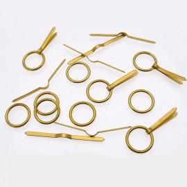 Attaches anneaux et lacets grands 16mm pour cartons encadrement x50
