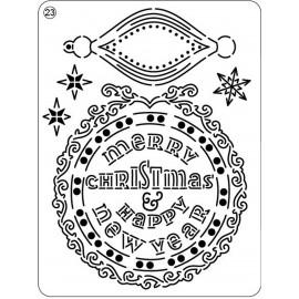 Pergamano mini grille embossage ciselage 23 bonne année 71023