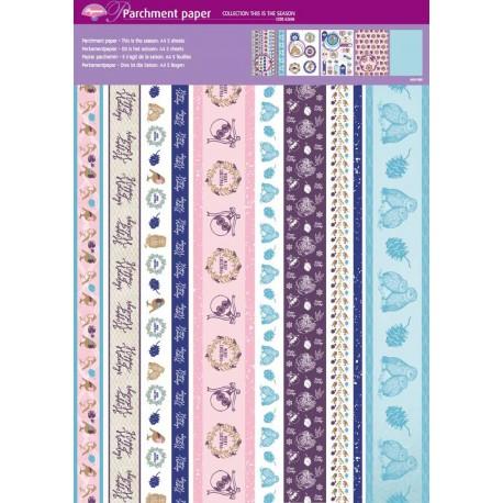 Pergamano assortiment papier parchemin couleurs automnales 62606 5f