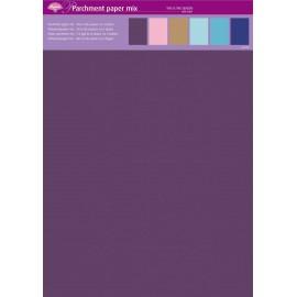 Pergamano assortiment papier parchemin couleurs automnales unies 62607 6f