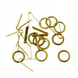 Attaches anneaux et lacets petits 10mm pour cartons encadrement x10