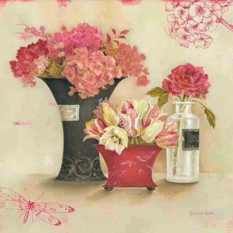 carte d 39 art d co maison shabby chic fleurs bouquets kathryn white. Black Bedroom Furniture Sets. Home Design Ideas