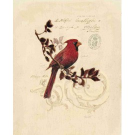 Reproduction déco maison oiseau cardinal Chad Barrett