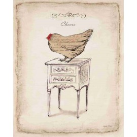 Reproduction déco maison poule chic salut Emily Adams