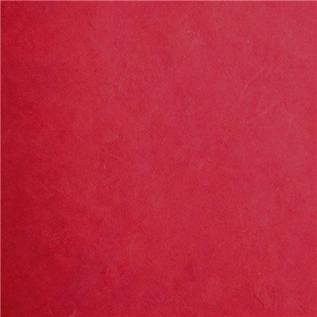 Papier népalais lokta rouge rubis 50x70