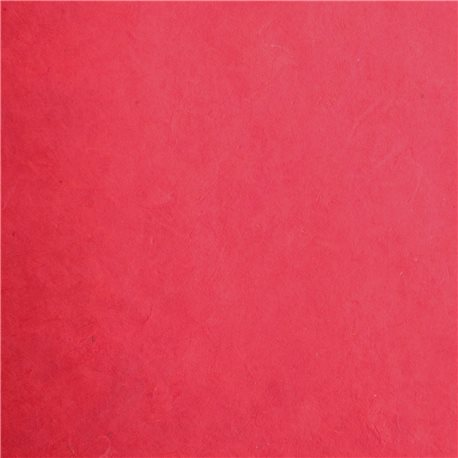 Papier népalais lokta rouge tomate 50x70