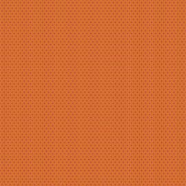 Feuilles décopatch fond orange motifs étoile rouge