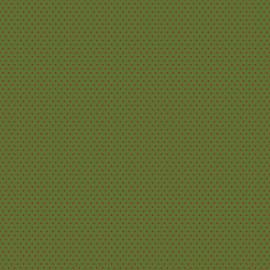 Feuilles décopatch fond vert motifs étoile rouge