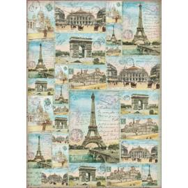 Papier de découpage Stampéria voyage monuments de paris
