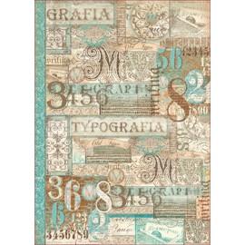 Papier de découpage Stampéria écriture calligraphie et typographie