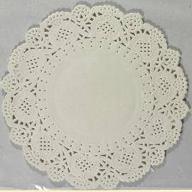 Napperon papier dentelle découpée blanc 11.5cm