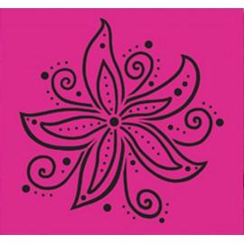 Grille pochoir Nellie Snellen fleur de noël