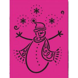 Grille pochoir Nellie Snellen bonhomme de neige