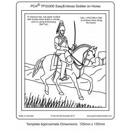 Template gabarit parchemin soldat a cheval