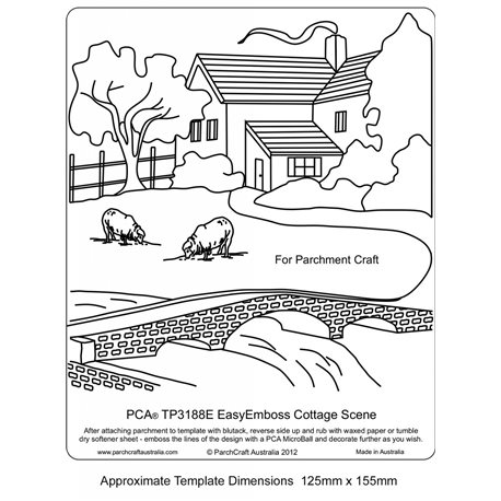 Template gabarit parchemin scène de la ferme