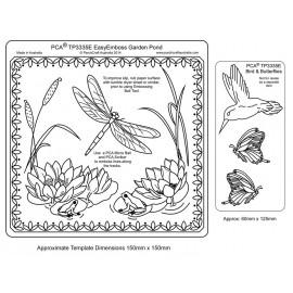 Template gabarit parchemin roseau et libellule