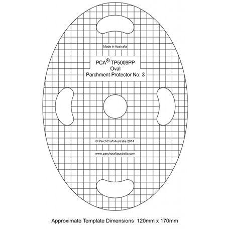 Gabarit de protection du parchemin ovale