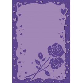 Classeur gaufrage embossage amour coeur et roses