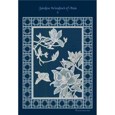 Modèles Julie Roces patron Pergamano Garden Windows of Asia pattern 5