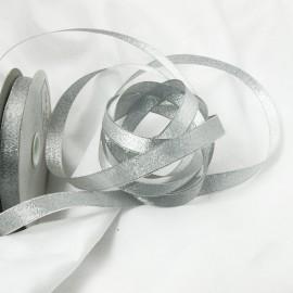 Ruban tissu argent 12mm
