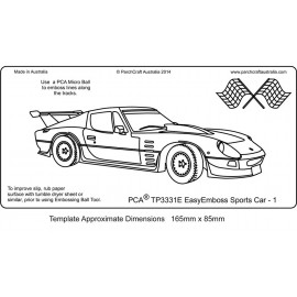 Template gabarit parchemin voiture de course