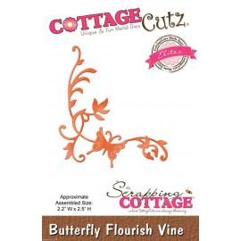 Dies découpe gaufrage matrice CottageCutz coin feuilles et papillon