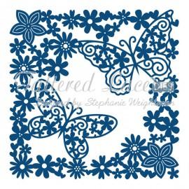 Dies découpe gaufrage matrice Tattered Lace fleurs et papillons