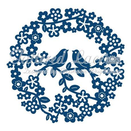 Dies découpe gaufrage matrice Tattered Lace couronne d'oiseaux