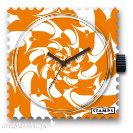 Montre Stamps cadran de montre orange fever