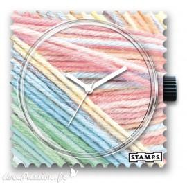 Montre Stamps cadran de montre pastel wool