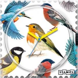 Montre Stamps cadran de montre birds