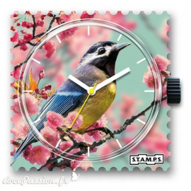 Montre Stamps cadran de montre romantic bird