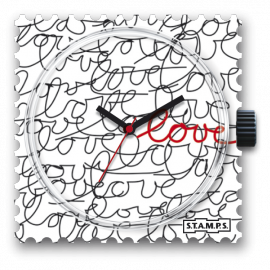 Montre Stamps cadran de montre love love love