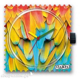 Montre Stamps cadran de montre parrots feather
