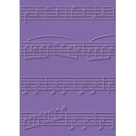 Classeur gaufrage embossage cArt'Us partition musique