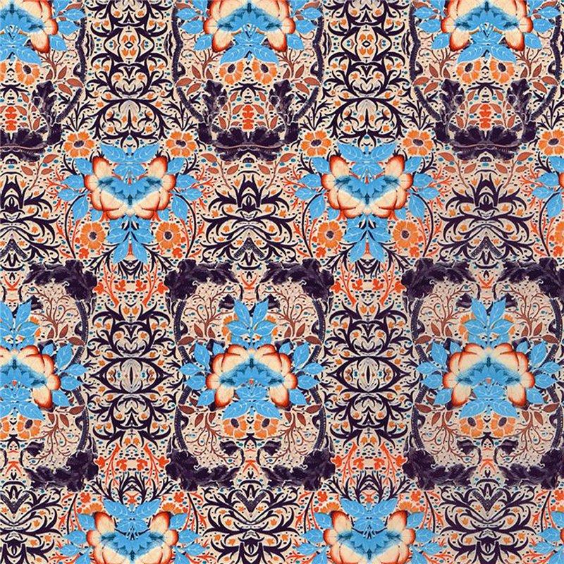 D copatch loisirs cr atifs feuilles saumon fleurs turquoise orange et figue for Peinture couleur figue