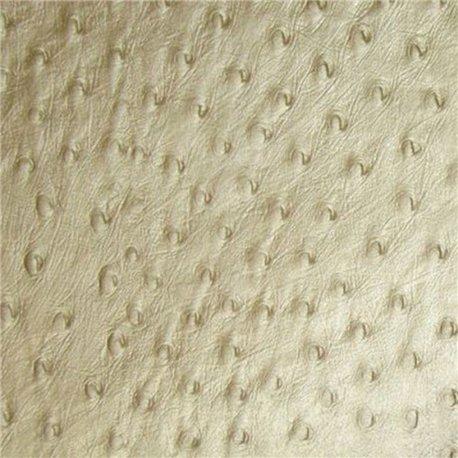 Papier fantaisie motif autruche champagne coton embossé 56x76