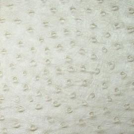 Papier fantaisie motif autruche blanc crème coton embossé 56x76