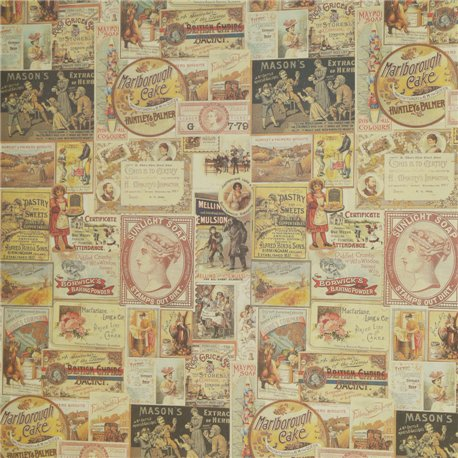 Papier italien motifs vieilles affiches 50x70