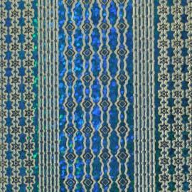Sticker peel off adhésif bleu brillant 4 lignes déco